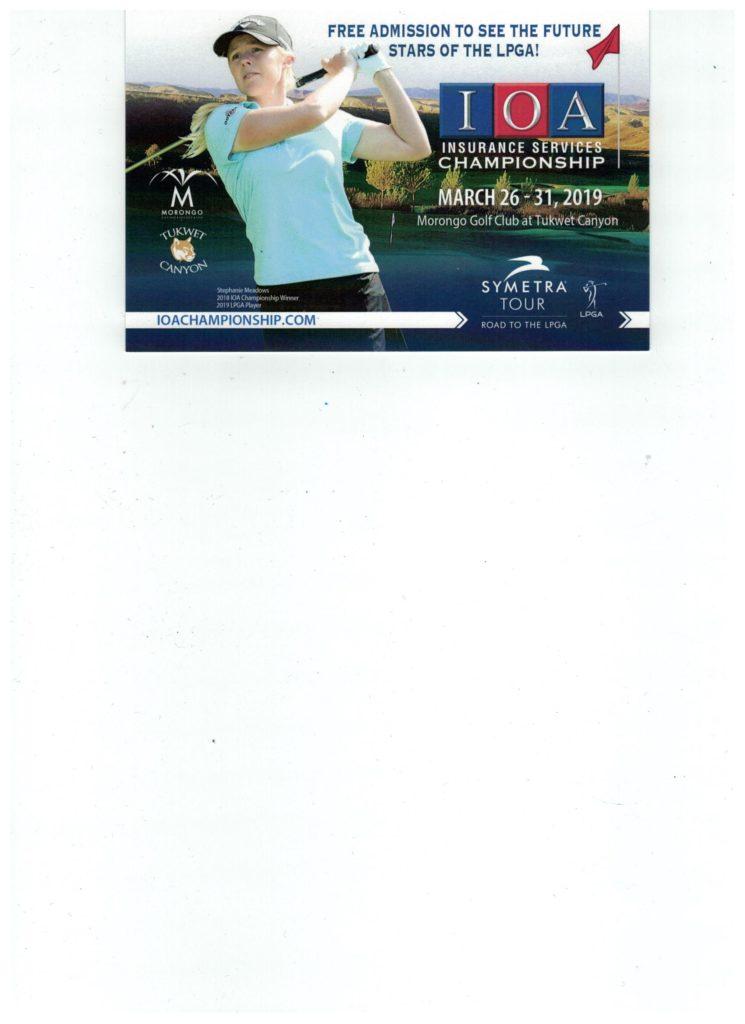 IOA Insurance Services CHAMPIONSHIP SYMETRA TOUR @ Morongo Golf Club at Tukwet Canyon   Beaumont   California   United States