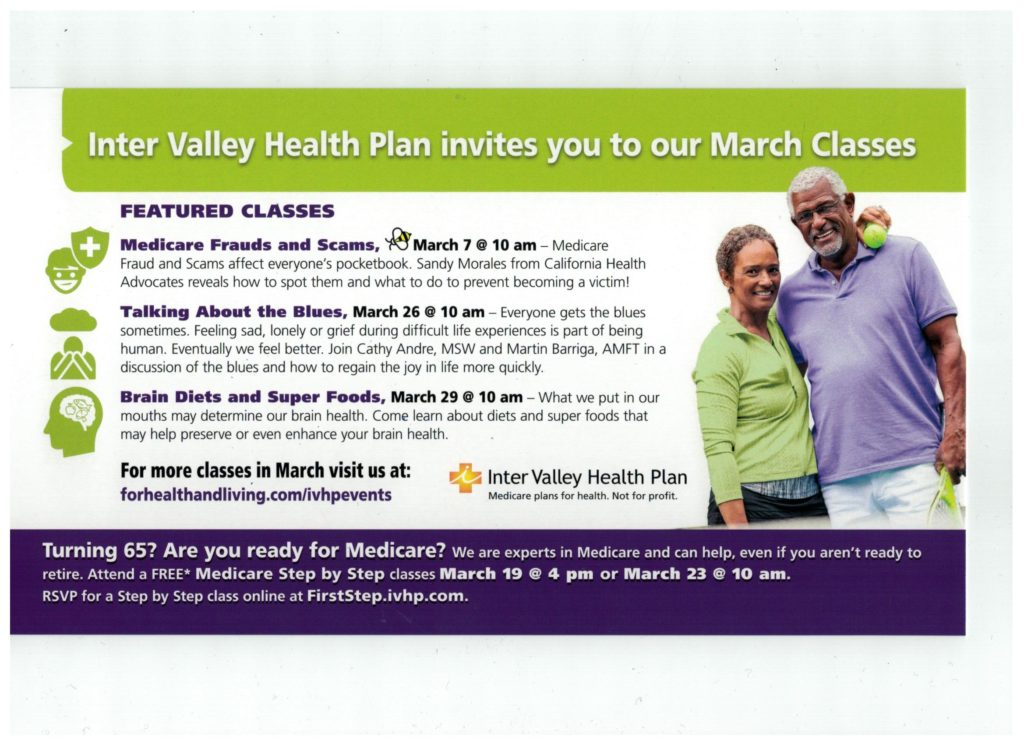 Talking About the Blues @ Inter Valley Health Plan Medicare Information & Vitality Center | Banning | California | United States
