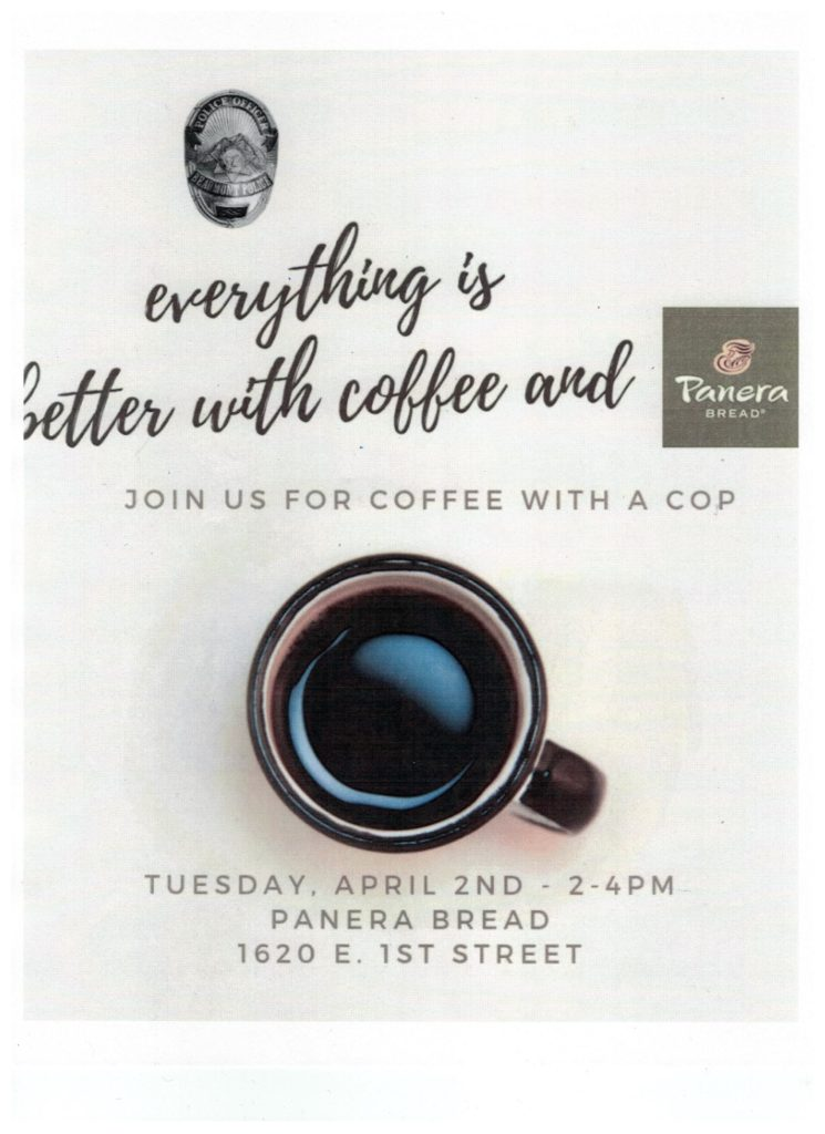 Everything is Better with Coffee and Panera Bread - Join Us for Coffee with a Cop @ Panera Bread | Beaumont | California | United States