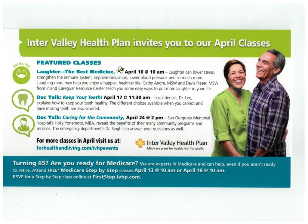 Doc Talk: Caring for the Community @ Inter Valley Health Plan Medicare Information & Vitality Center | Banning | California | United States