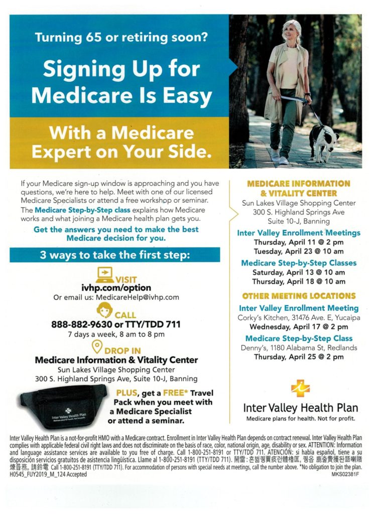 Medicare Step by Step Class @ Denny's  | Redlands | California | United States