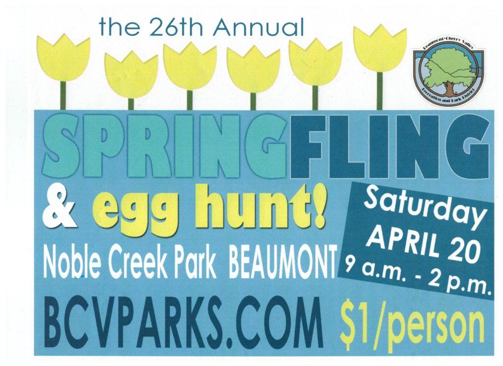 SPRING FLING & EGG HUNT @ Noble Creek Park   Beaumont   California   United States