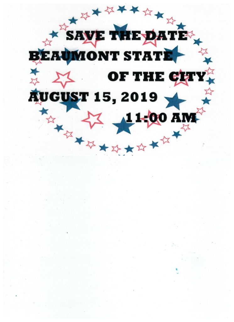 SAVE THE DATE-BEAUMONT STATE OF THE CITY @ The Ballroom at K. Hovnanian's Four Seasons | Beaumont | California | United States