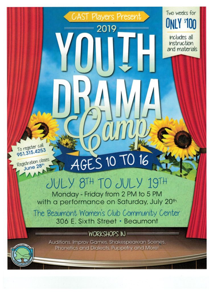 2019 Youth Drama Camp @ Beaumont Women's Club Community Center | Beaumont | California | United States