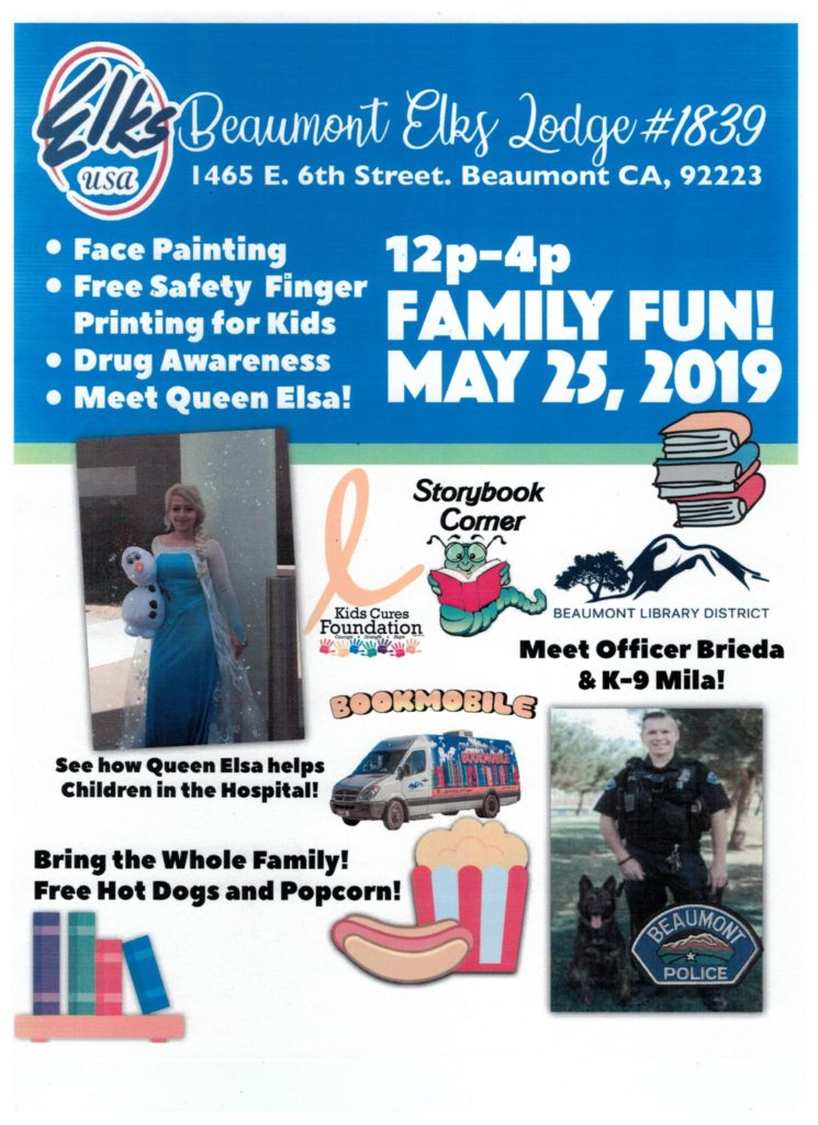 FAMILY FUN DAY! BEAUMONT ELKS @ Beaumont Elks Lodge #1839 | Beaumont | California | United States