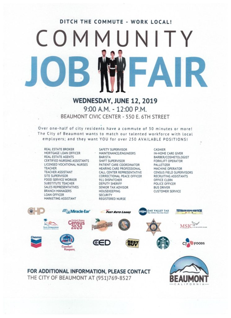 Community Job Fair @ Beaumont Civic Center | Beaumont | California | United States
