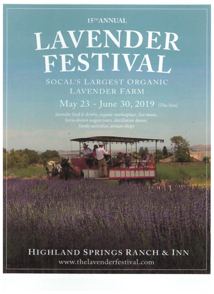 15th ANNUAL LAVENDER FESTIVAL @ Highland Springs Ranch & Inn | Cherry Valley | California | United States