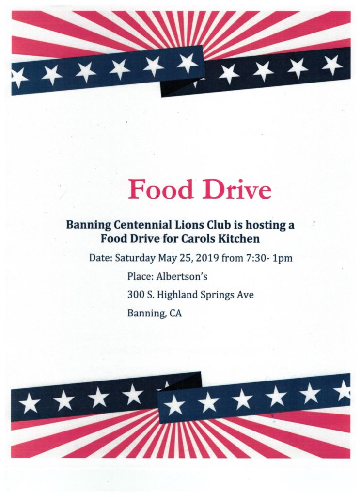 FOOD DRIVE - PLEASE HELP @ ALBERTSON'S | Banning | California | United States