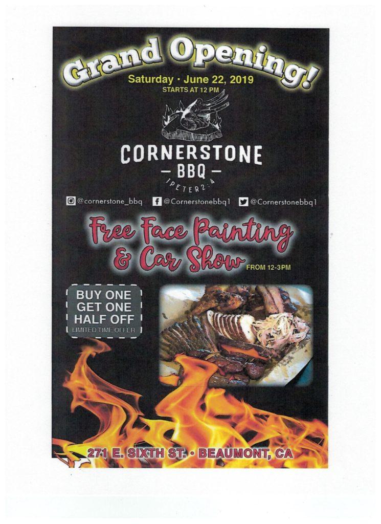 Cornerstone BBQ Grand Opening @ Cornerstone BBQ | Beaumont | California | United States