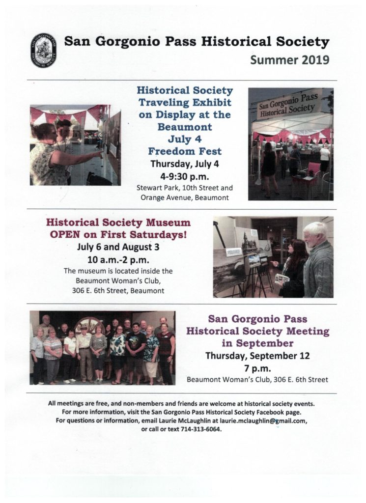 Historical Society Museum Open @ Beaumont Women's Club | Beaumont | California | United States