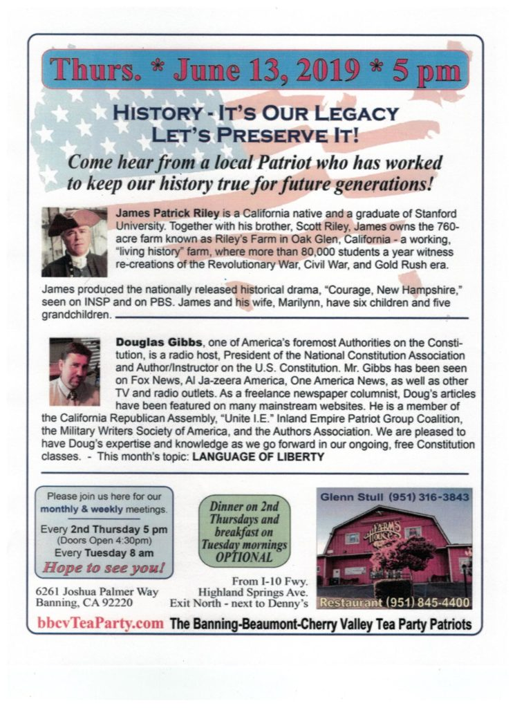 History - It's Our Legacy @ Farm's House Restaurant | Banning | California | United States