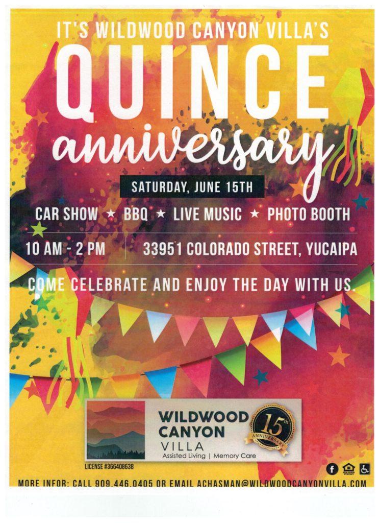 Wildwood Canyon Villa's Quince Anniversary @ Wildwood Canyon Villa | Yucaipa | California | United States
