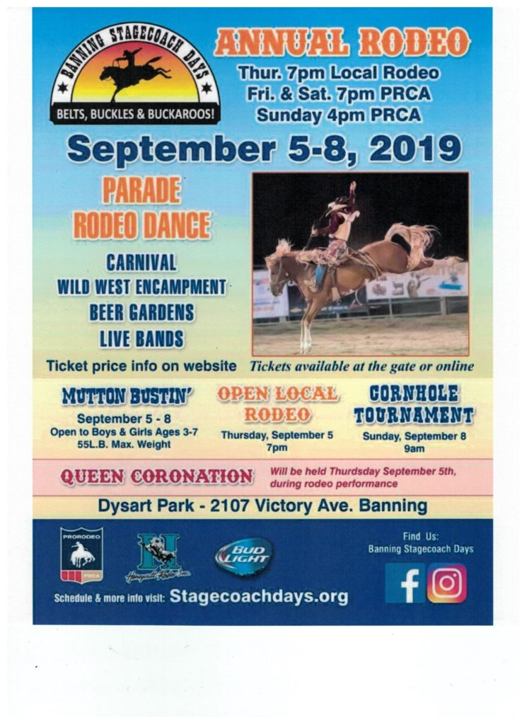 Banning Stagecoach Days Annual Rodeo Beaumont Chamber Of