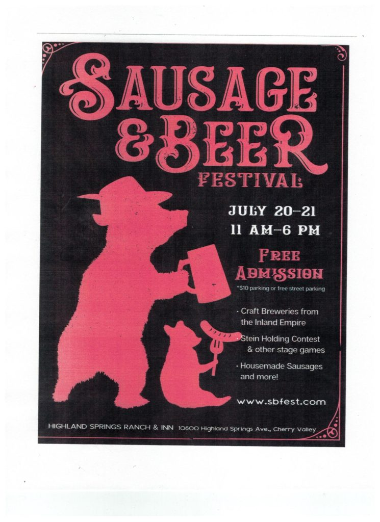 Sausage & Beer Festival @ Highland Springs Ranch & Inn | Cherry Valley | California | United States