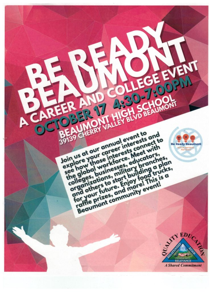 Career & College Event @ Beaumont High School | Cherry Valley | California | United States
