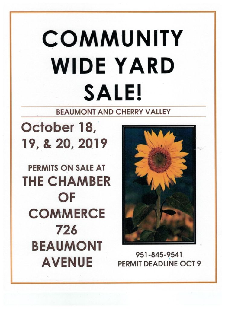 Community Wide Yard Sale @ Beaumont Chamber of Commerce | Beaumont | California | United States