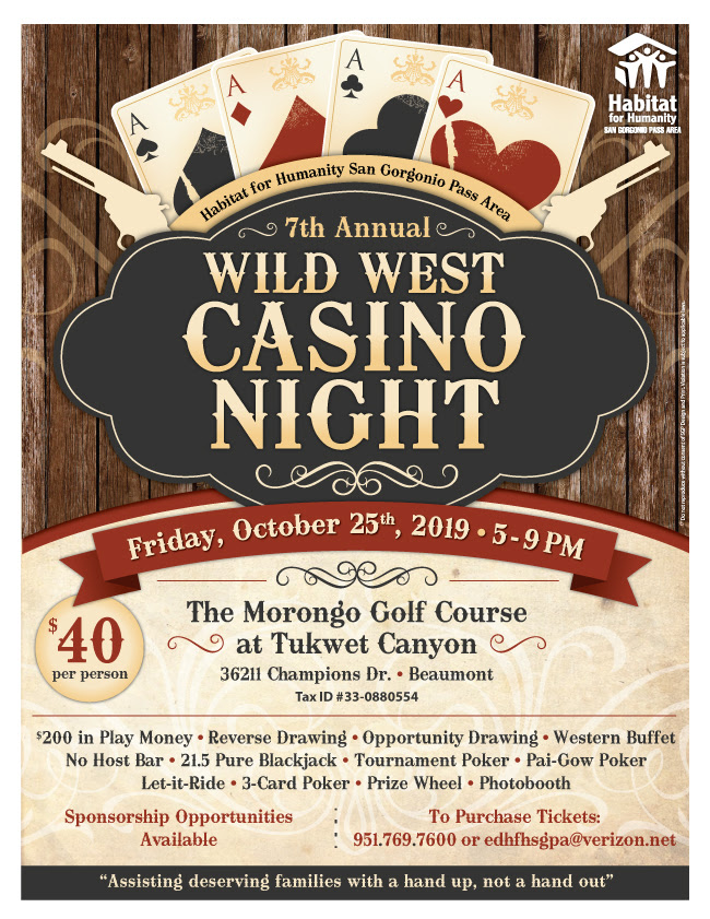 Wild West Casino Night @ Morongo Golf Course | Beaumont | California | United States