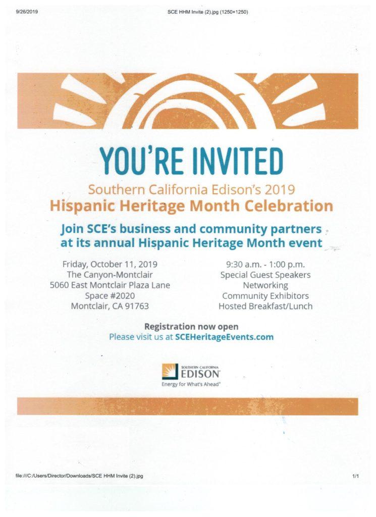 SCE Hispanic Heritage Month Celebration @ The Canyon-Montclair | Montclair | California | United States