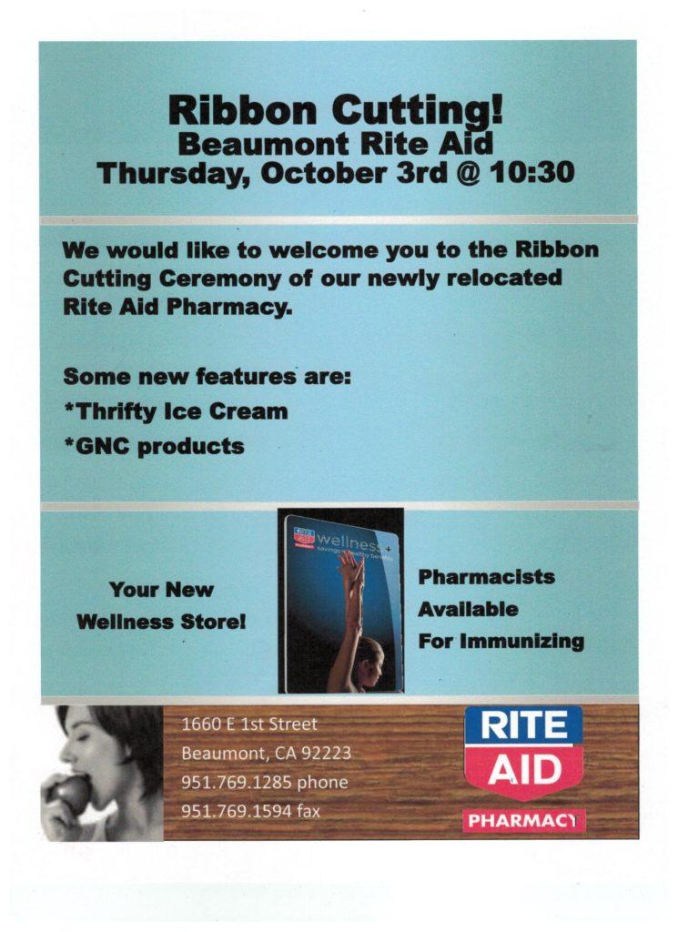 Rite Aid Ribbon Cutting @ Rite Aid | Beaumont | California | United States