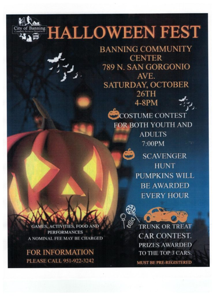 Halloween Fest @ Banning Community Center | Banning | California | United States