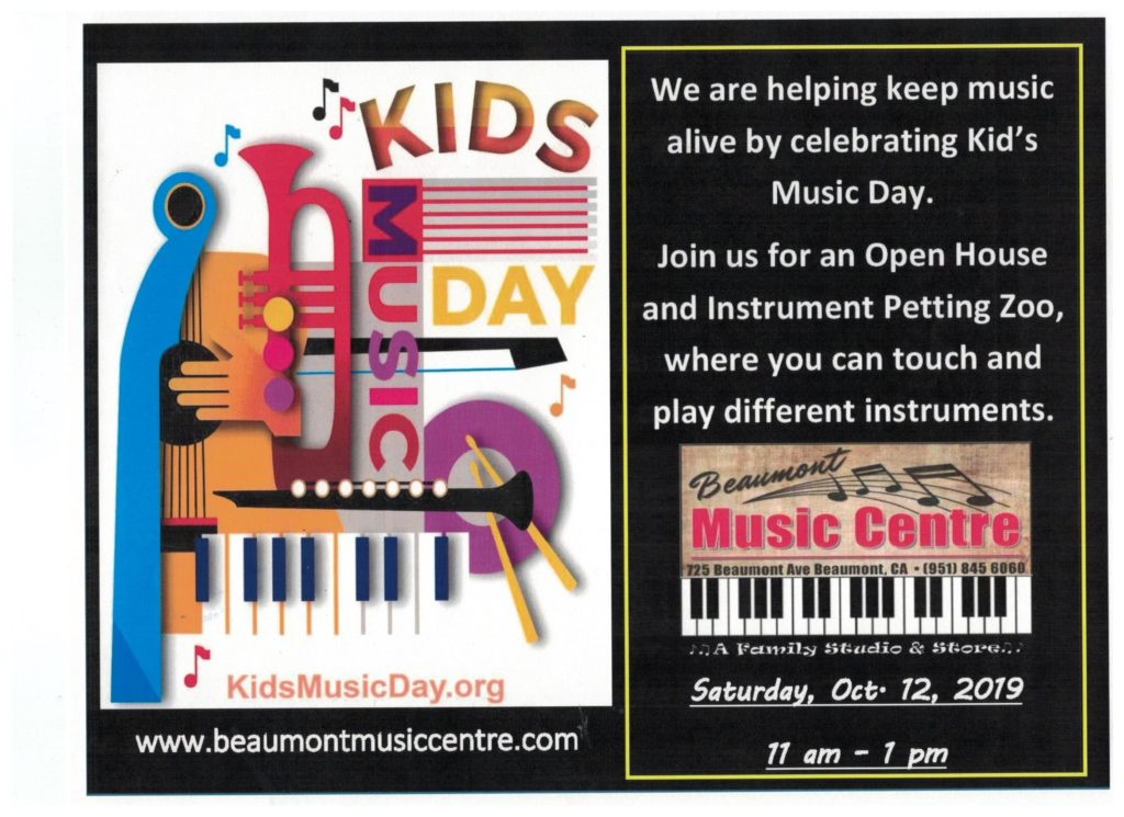 Kid's Music Day @ Beaumont Music Centre | Beaumont | California | United States