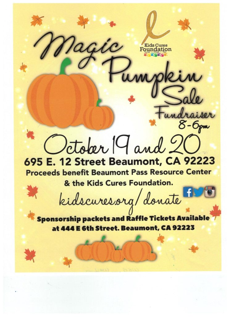Magic Pumpkin Sale @ Beaumont Pass Resource Center | Beaumont | California | United States