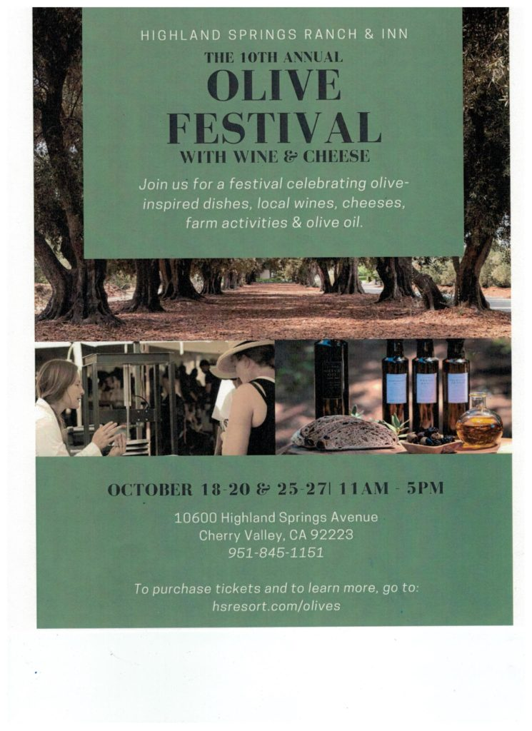 Olive Festival @ Highland Springs Ranch & Inn | Cherry Valley | California | United States