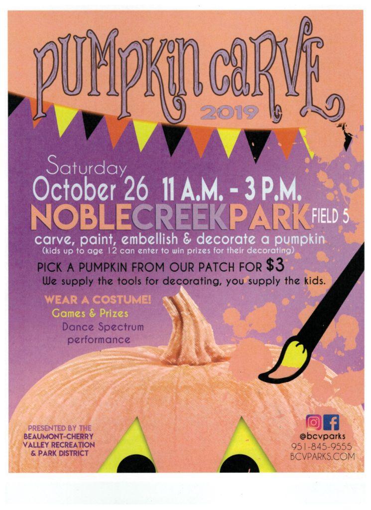 Pumpkin Carve @ Noble Creek Park Field #5 | Beaumont | California | United States
