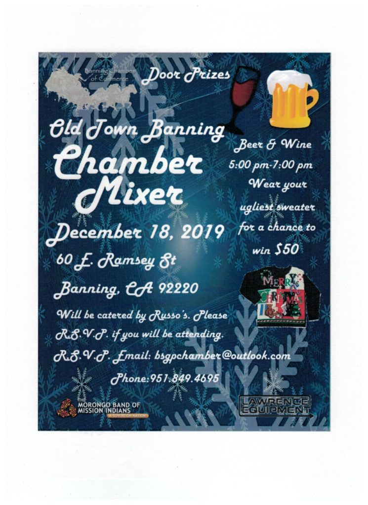 Banning Chamber Mixer @ Banning Chamber of Commerce | Banning | California | United States
