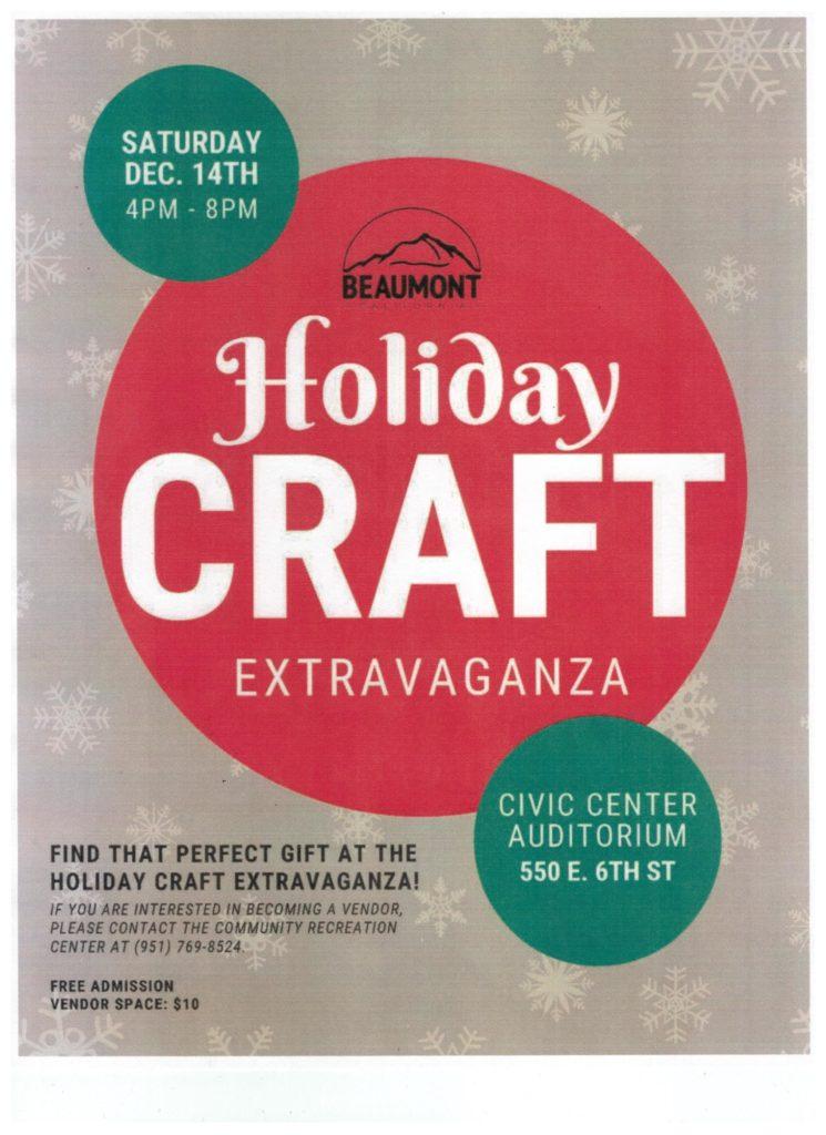 Holiday Craft Extravaganza @ Civic Center Auditorium | Beaumont | California | United States