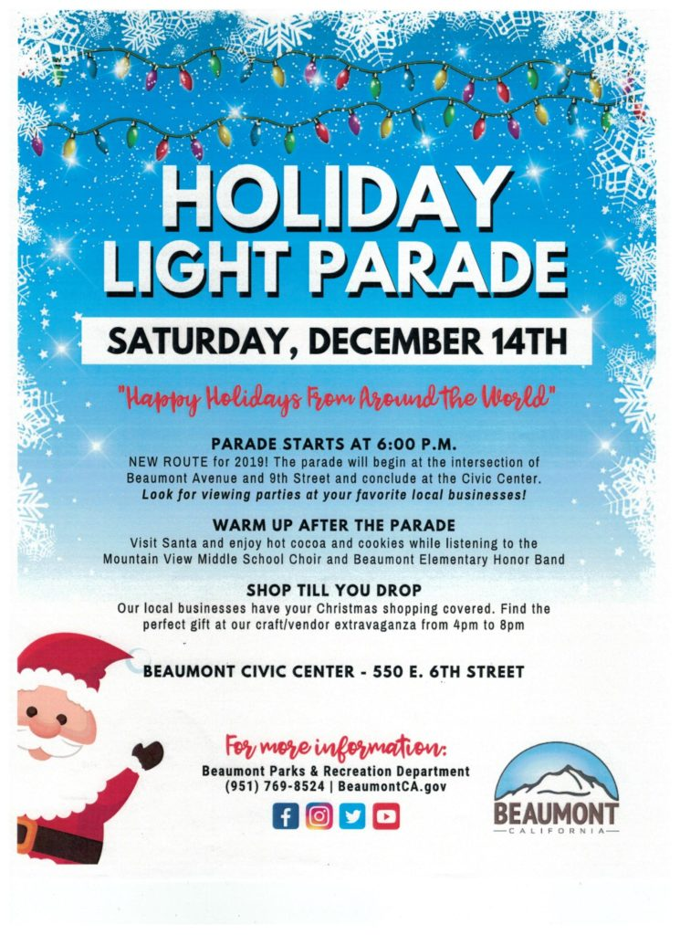 Holiday Light Parade @ City of Beaumont, CA | Beaumont | California | United States