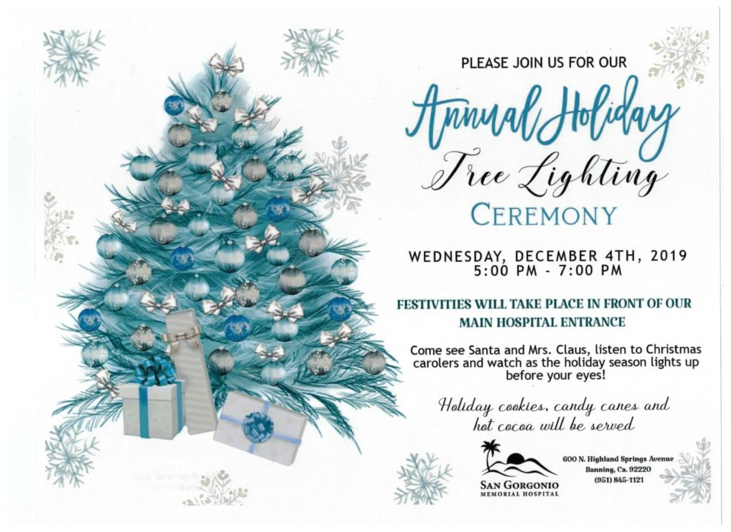 SGMH Tree Lighting @ San Gorgonio Memorial Hospital | Banning | California | United States