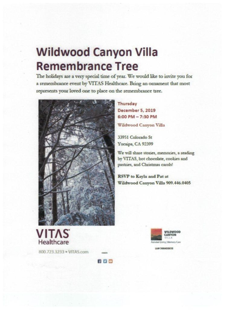 Remembrance Tree @ Wildwood Canyon Villa | Yucaipa | California | United States