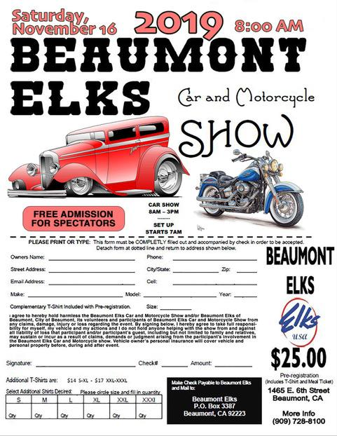 Car & Motorcycle Show @ Beaumont Elks | Beaumont | California | United States