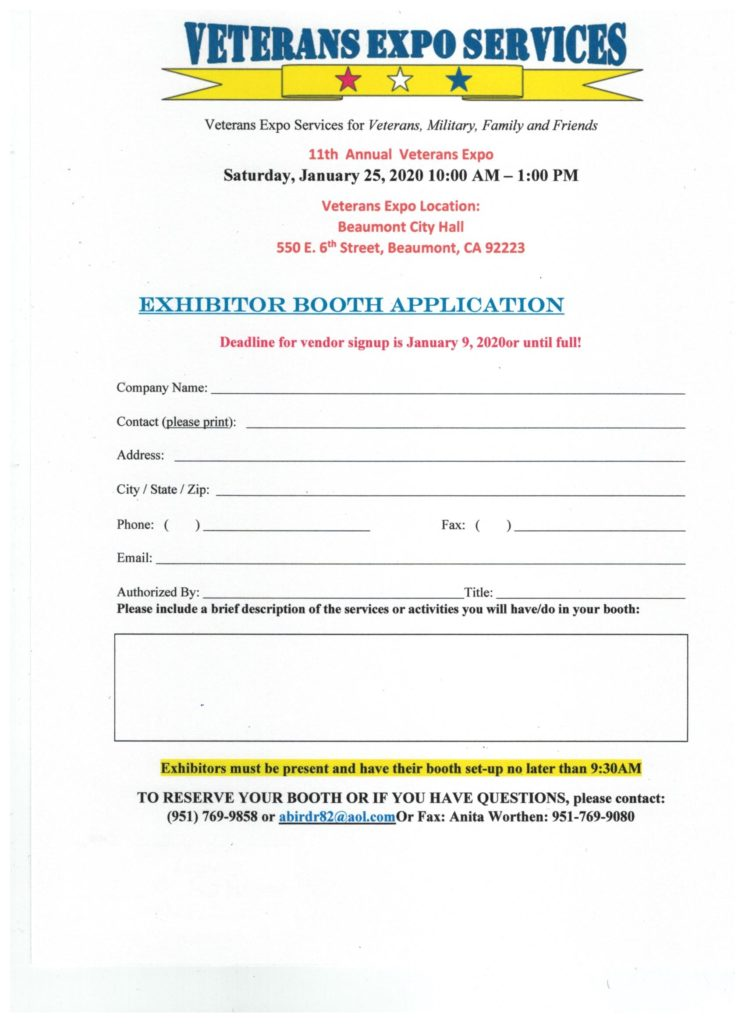 Veteran's Expo @ Beaumont City Hall | Beaumont | California | United States