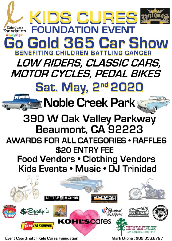 Kids Cures Car Show @ Noble Creek Park | Beaumont | California | United States