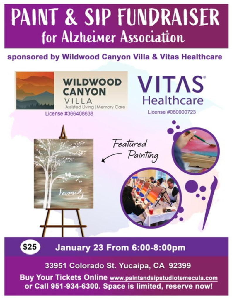 Paint & Sip Fundraiser @ Wildwood Canyon Villa | Yucaipa | California | United States