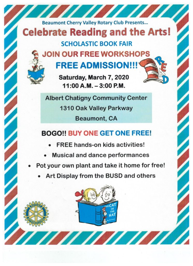 Celebrate Reading and the Arts @ Albert Chatigny Community Center | Beaumont | California | United States