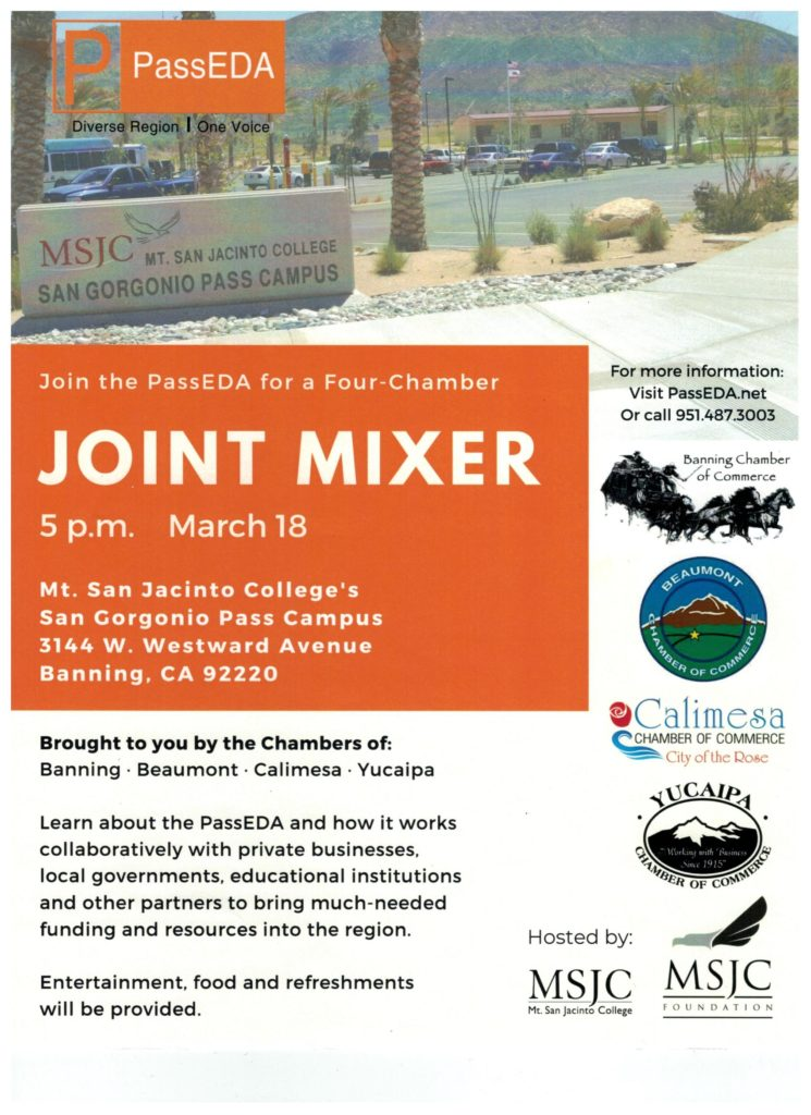 Pass EDA Joint Mixer @ Mt. San Jacinto College's San Gorgonio Pass Campus | Banning | California | United States