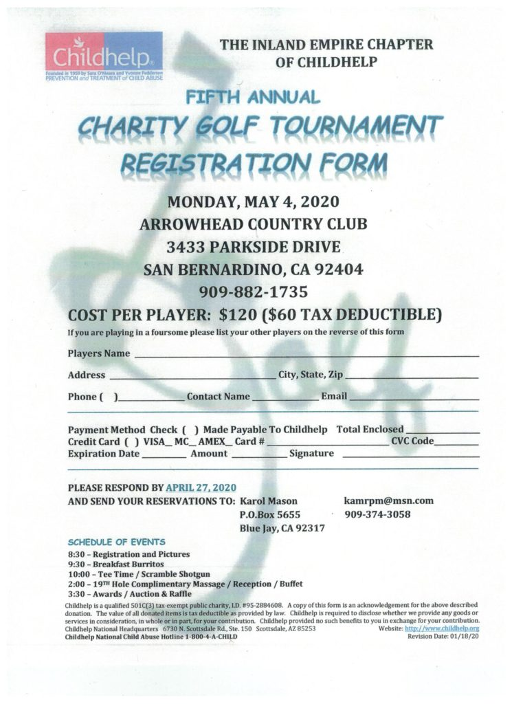 Childhelp Charity Golf Tournament @ Arrowhead Country Club | San Bernardino | California | United States