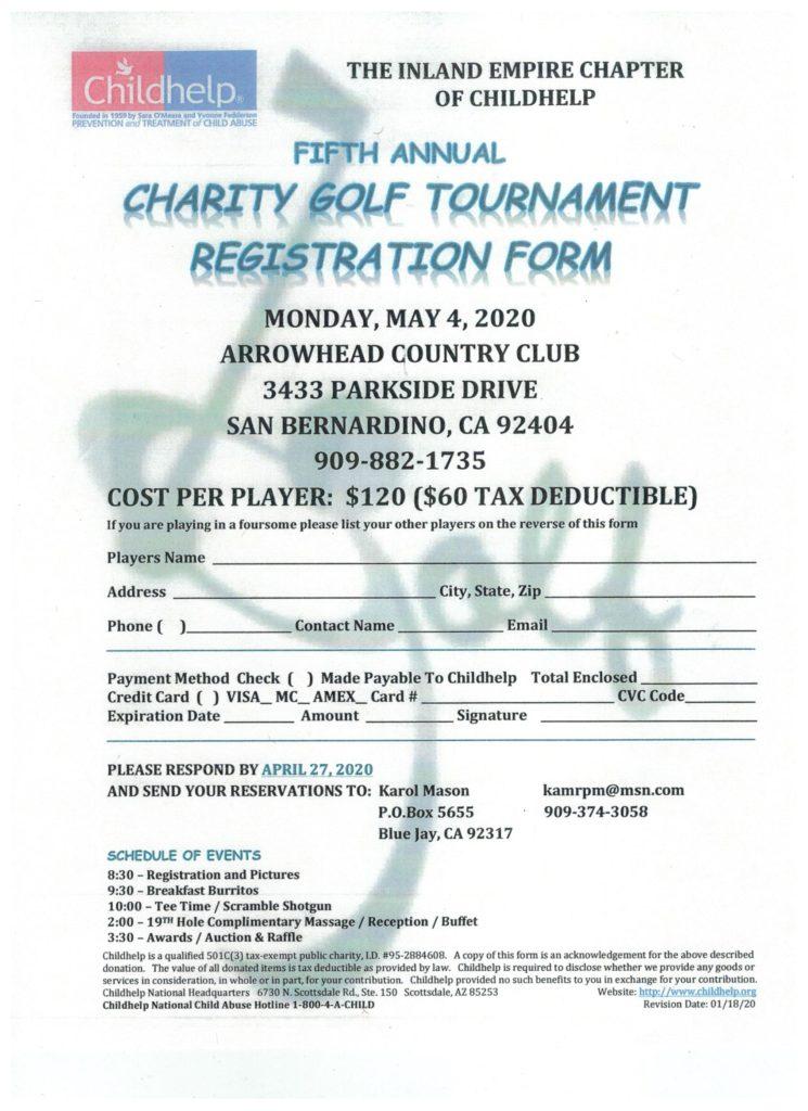 Childhelp Charity Golf Tournament @ Arrowhead Country Club | San Bernardino | California | United States