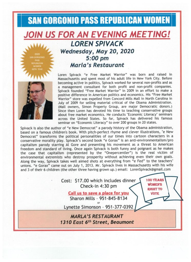 Evening with Loren Spivack @ Marla's Restaurant | Beaumont | California | United States