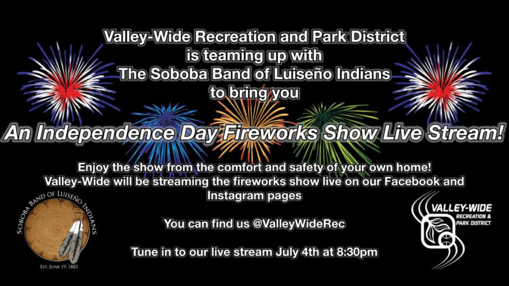 Independence Day Fireworks Show @ @ValleyWideRec | San Jacinto | California | United States