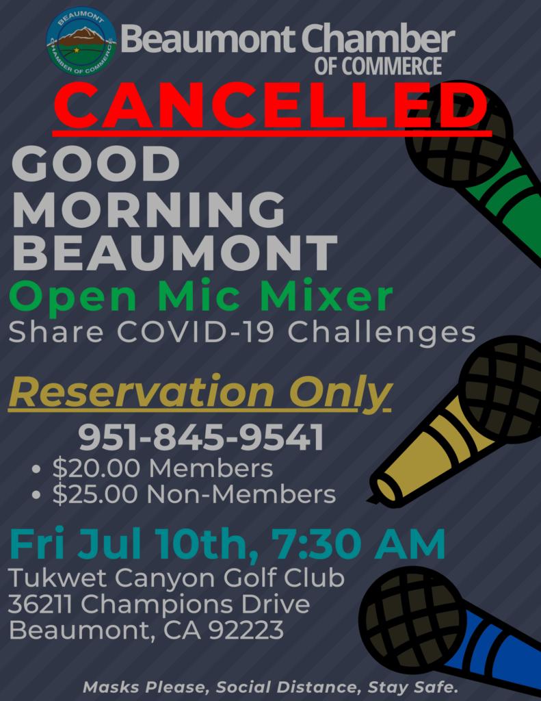 Good Morning Beaumont - CANCELLED @ Morongo Golf Club @ Tukwet Canyon | Beaumont | California | United States