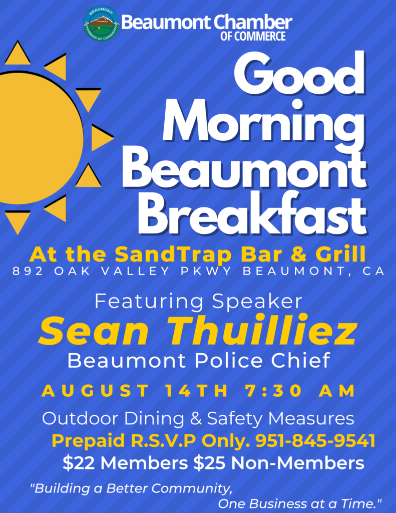 Good Morning Beaumont @ SandTrap Bar and Grill | Beaumont | California | United States