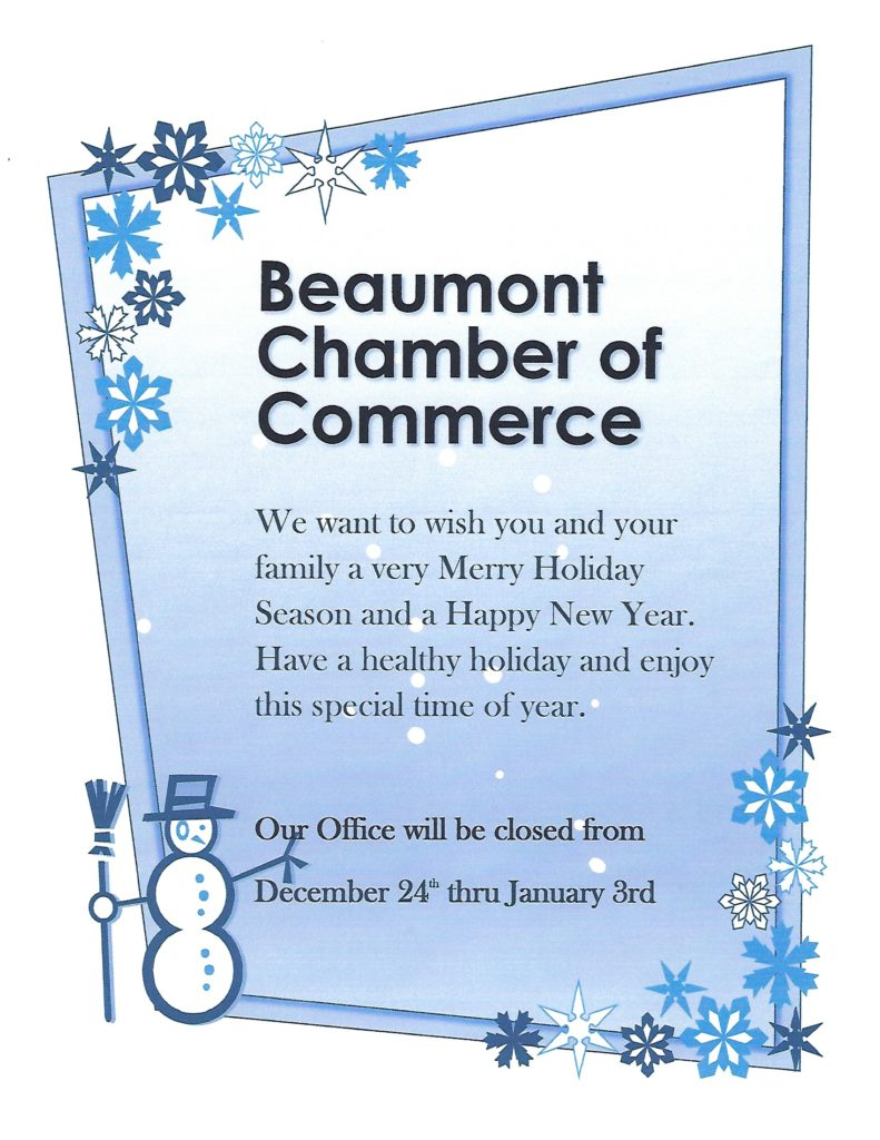 Chamber Office Closed @ Beaumont Chamber of Commerce | Beaumont | California | United States