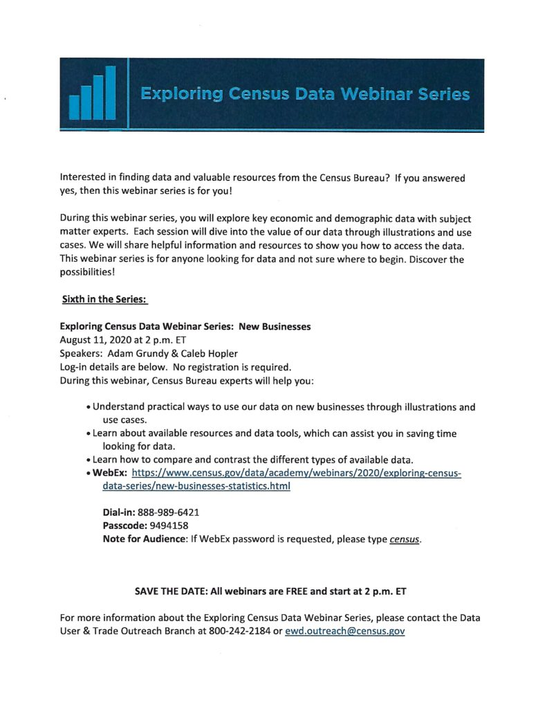 Exploring Census Data Webinar @ WebEX