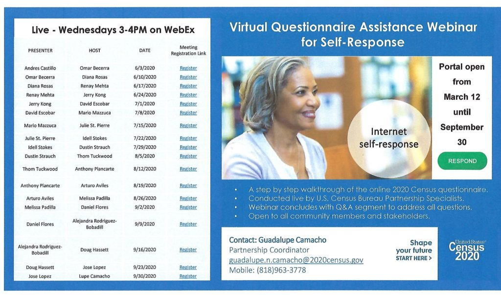 Census 2020 Virtual Questionnaire @ WebEX