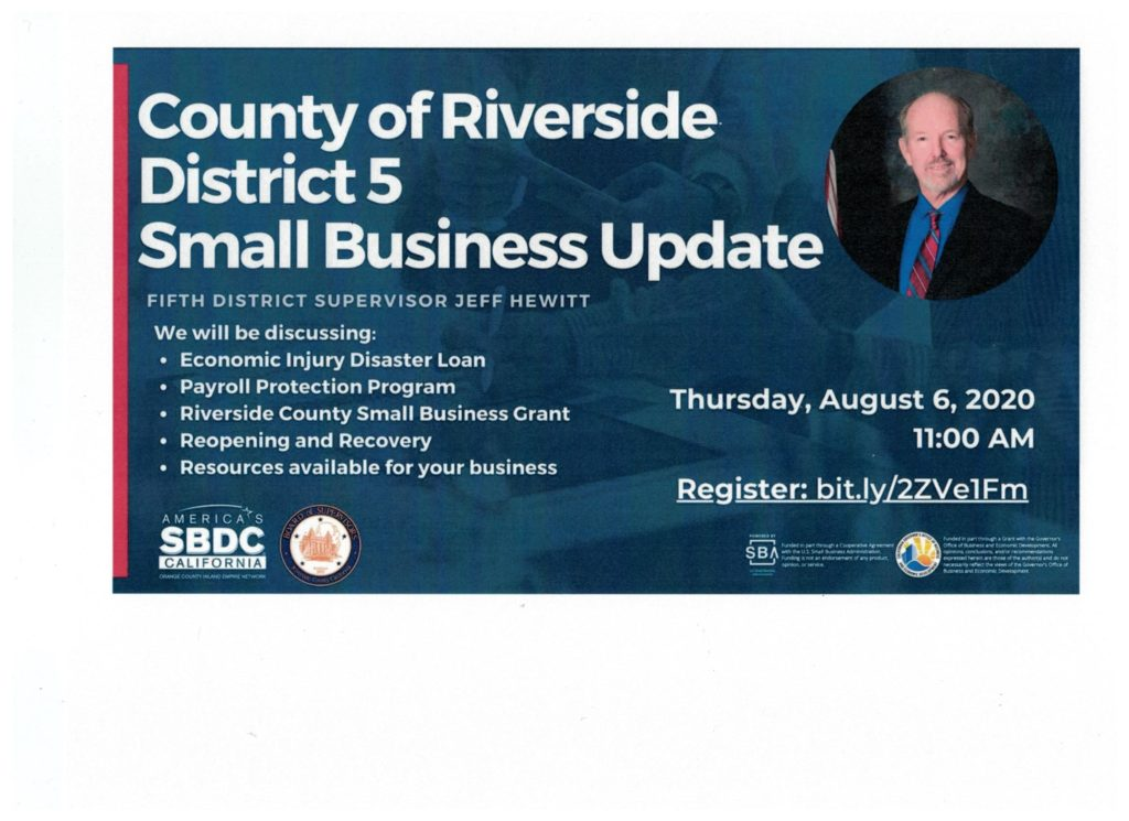 Riverside Small Bus. Update @ Register: bit.ly/2ZVelFm