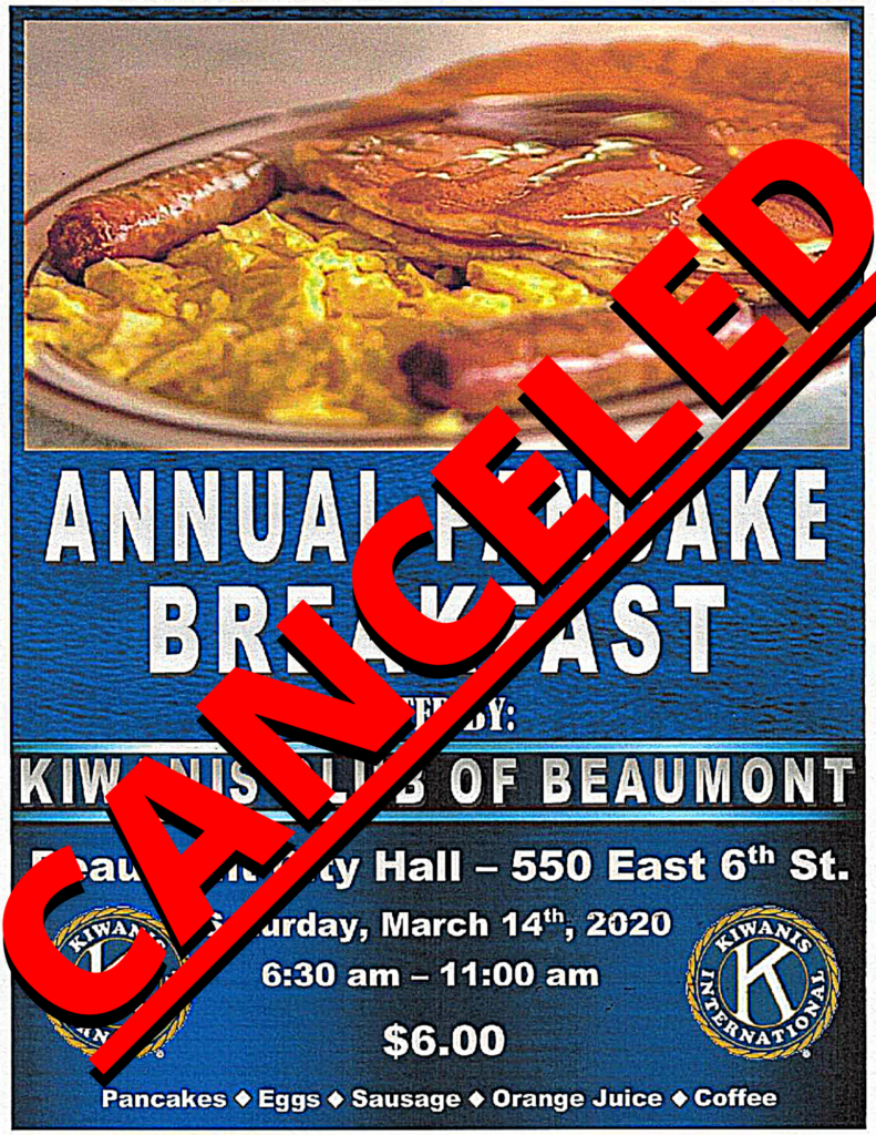 Canceled Pancake Breakfast @ Beaumont City Hall   Beaumont   California   United States